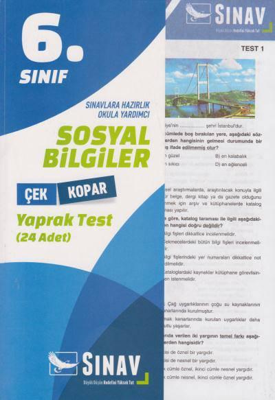 SINAV 6.SINIF SOSYAL BİLGİLER YAPRAK TEST