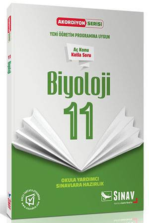 SINAV 11.SINIF BİYOLOJİ AKORDİYON KİTAP