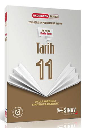SINAV 11.SINIF TARİH AKORDİYON KİTAP