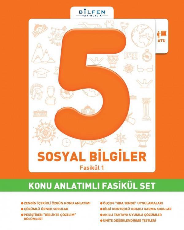 BİLFEN 5.SINIF SOSYAL BİLGİLER KONU ANLATIMLI  FASİKÜL SET