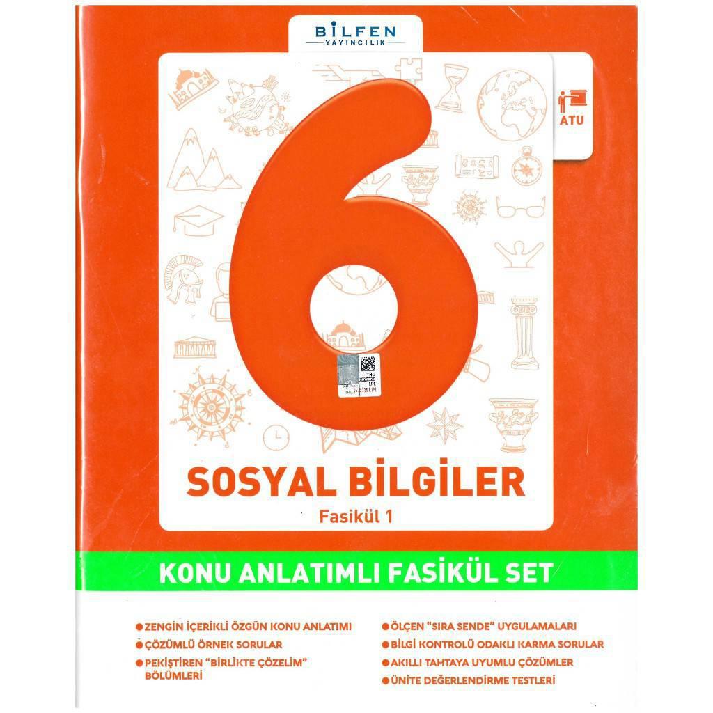 BİLFEN 6.SINIF SOSYAL BİLGİLER KAONU ANLATIMLI FASİKÜL SET