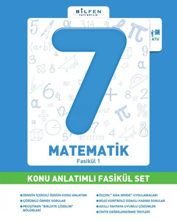 BİLFEN 7.SINIF MATEMATİK KONU ANLATIMLI FASİKÜL SET