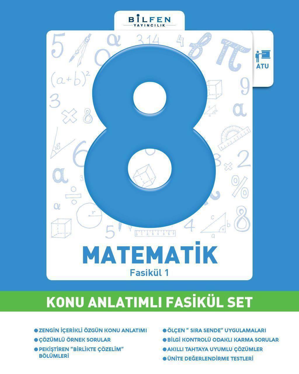 BİLFEN 8.SINIF MATEMATİK KONU ANLATIMLI FASİKÜL SET