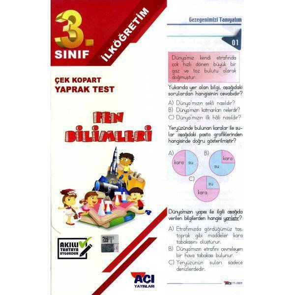 AÇI 3.SINIF FEN BİLİMLERİ ÇEK KOPAR YAPRAK TEST