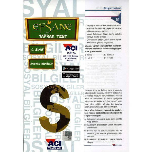 AÇI 6.SINIF SOSYAL BİLGİLER ÇEK KOPAR YAPRAK TEST