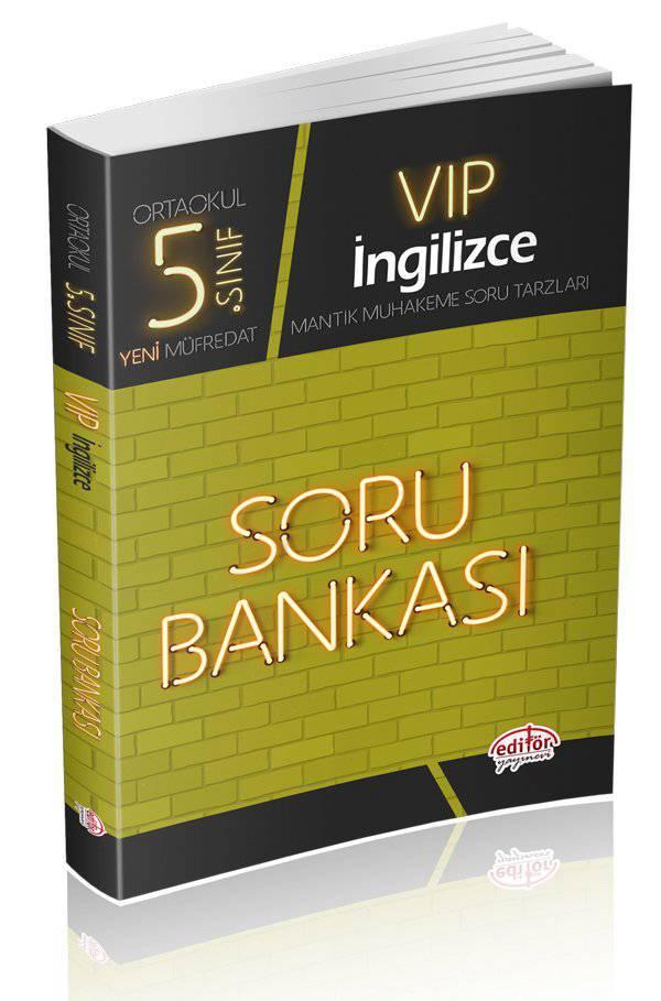 EDİTÖR 5.SINIF VIP İNGİLİZCE SORU BANKASI