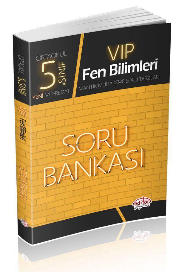 EDİTÖR 5.SINIF VIP FEN BİLİMLERİ SORU BANKASI