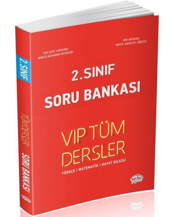 EDİTÖR 2.SINIF VIP TÜM DERSLER SORU BANKASI
