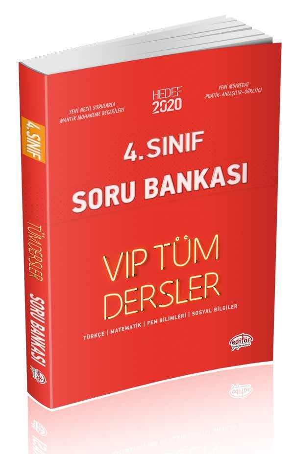EDİTÖR 4.SINIF VIP TÜM DERSLER SORU BANKASI